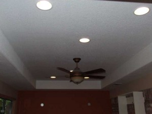 After Room Addition Coffered Room Texas