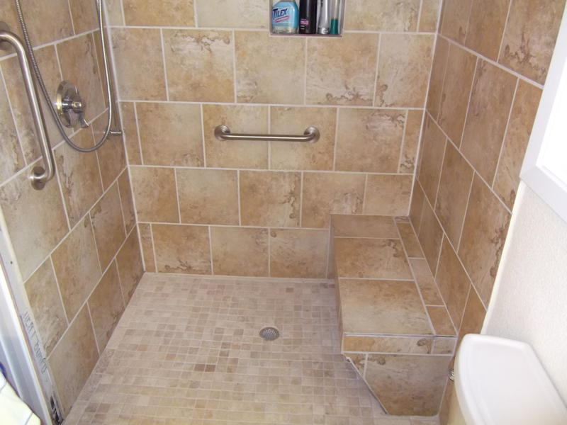 Residential remodeling seabrook league city kemah and for Standing shower bathroom ideas
